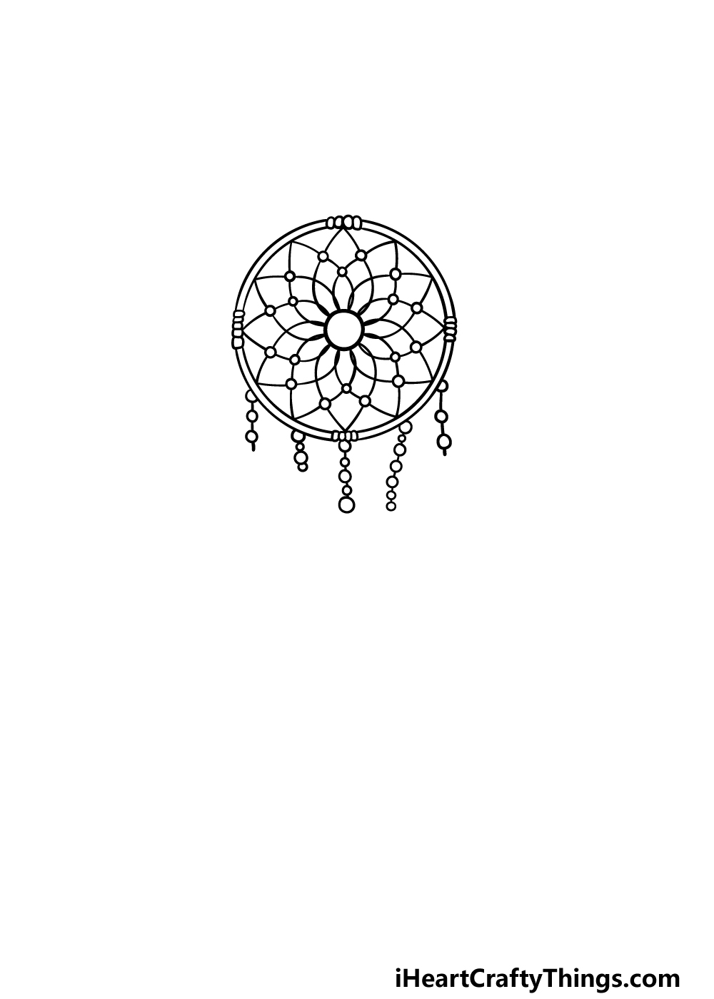 drawing dream catcher step 4
