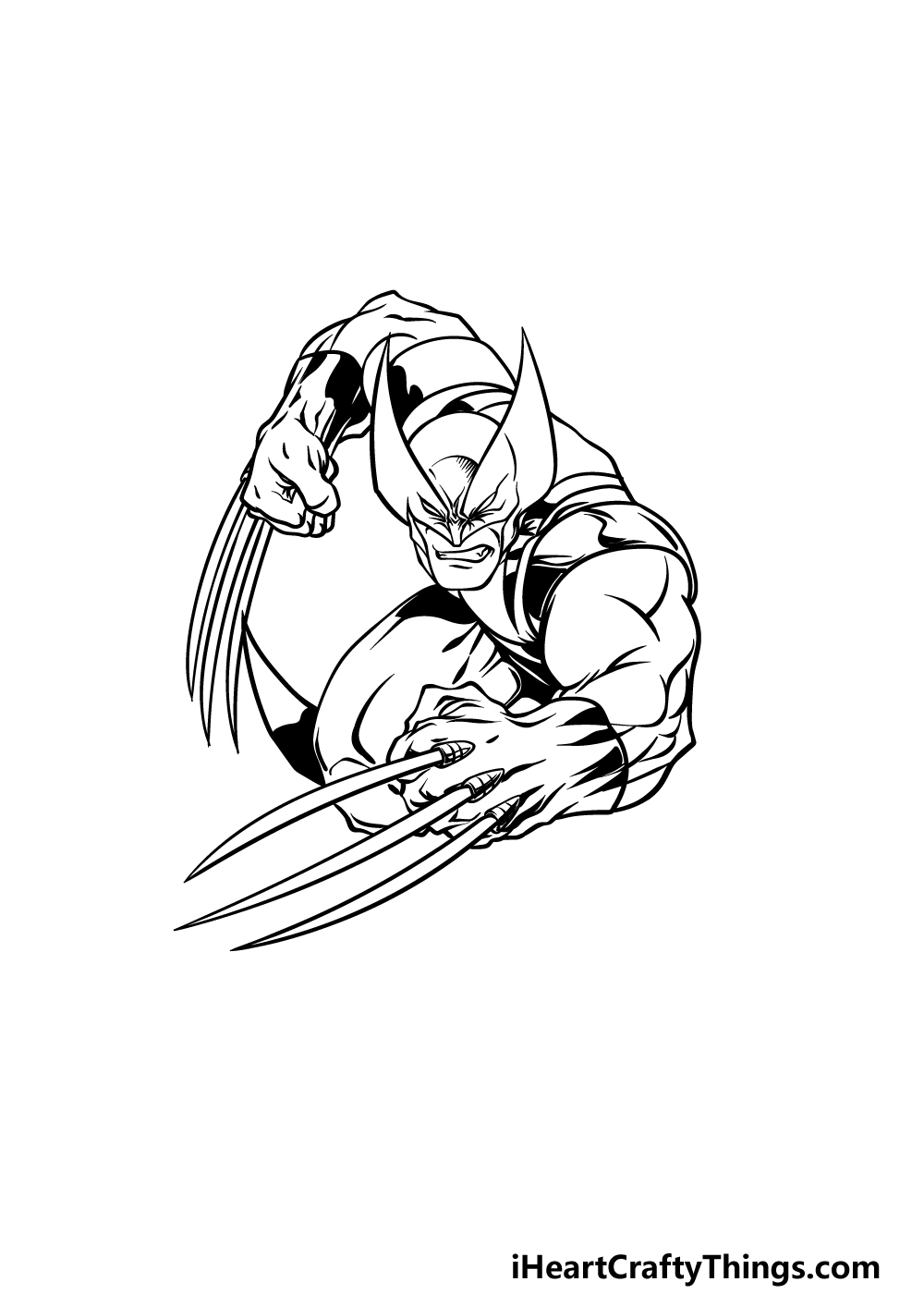 drawing wolverine step 4