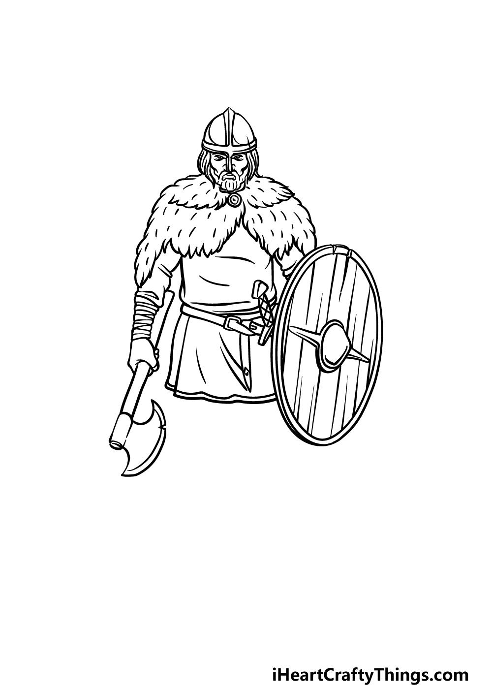 drawing a viking step 4
