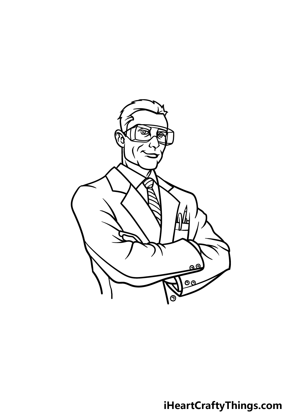 drawing a scientist step 4