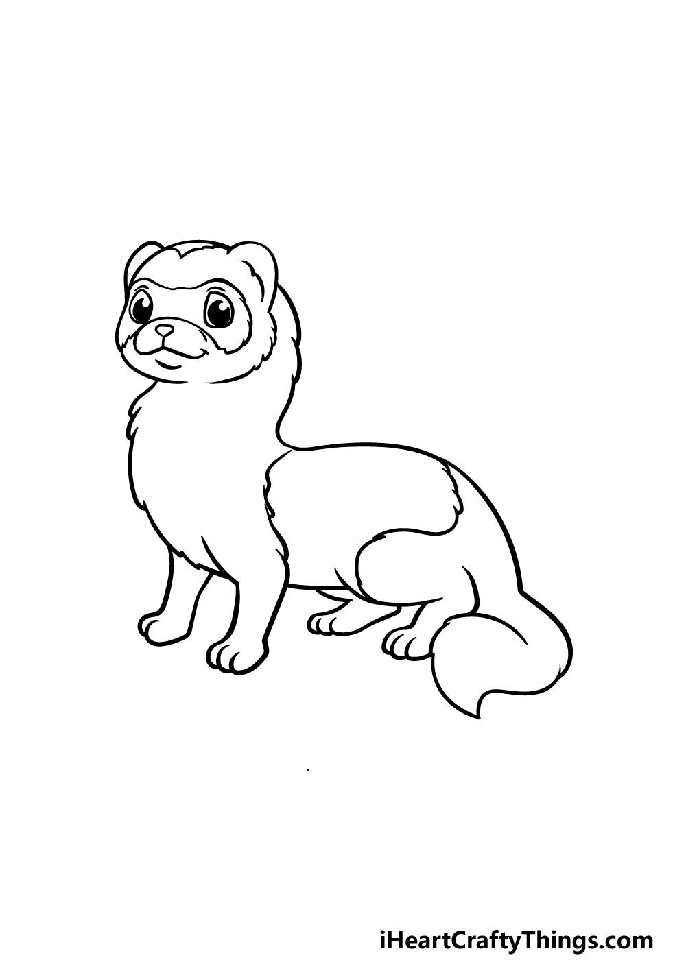 drawing a ferret step 4