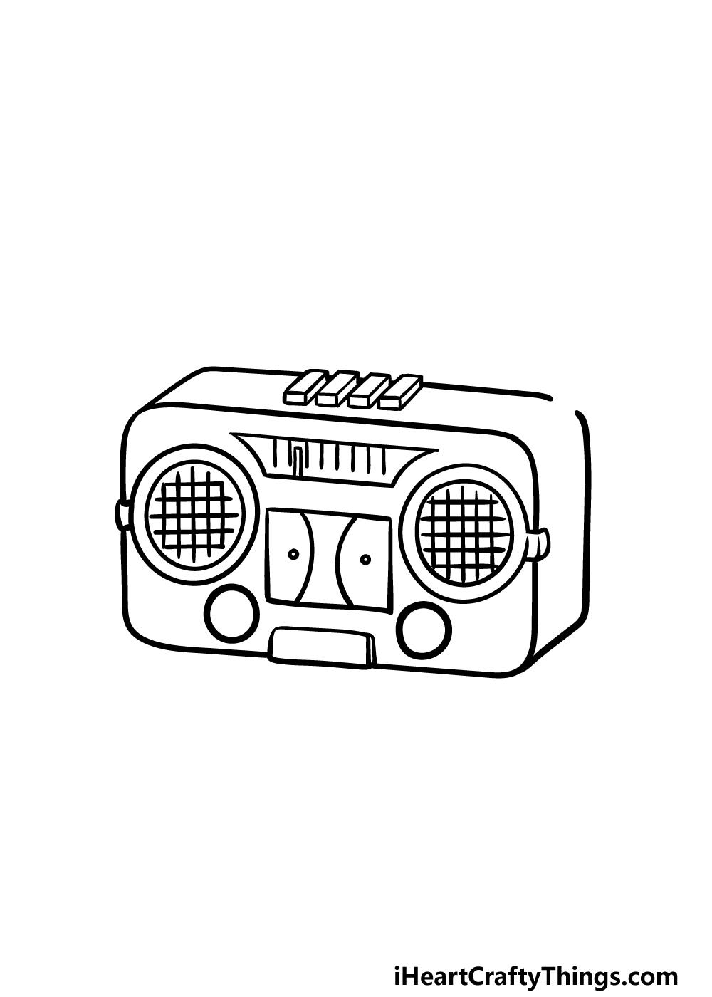 drawing a radio step 4
