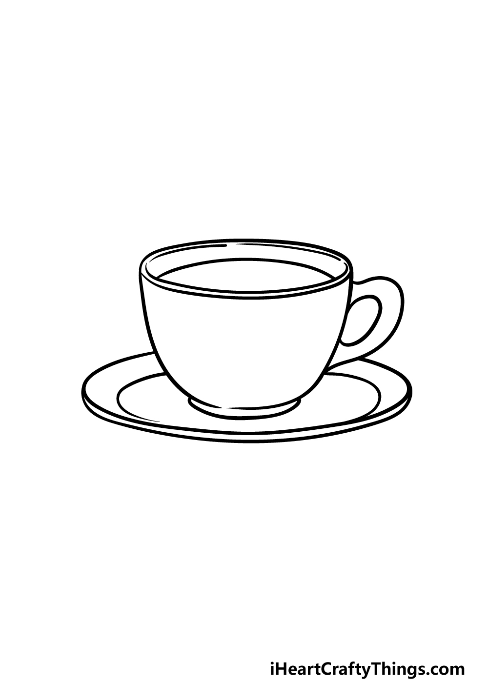 drawing a tea cup step 4