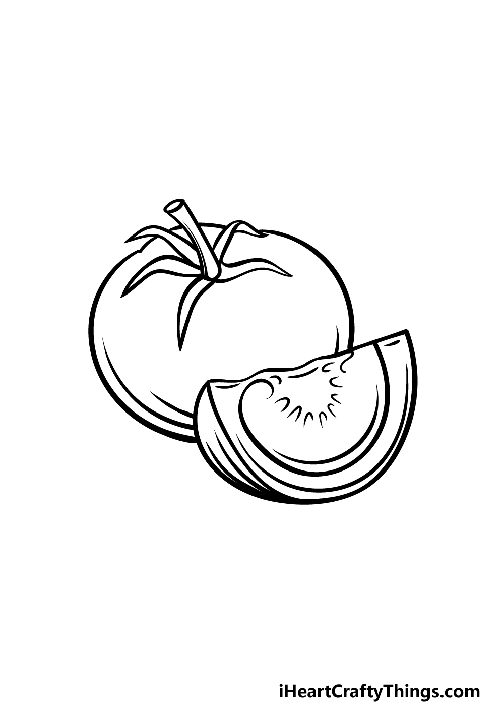 drawing a tomato step 4