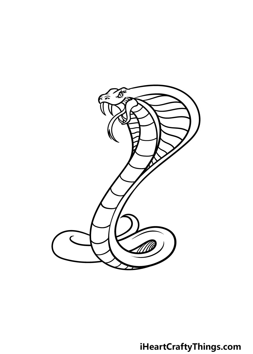 drawing cobra step 4