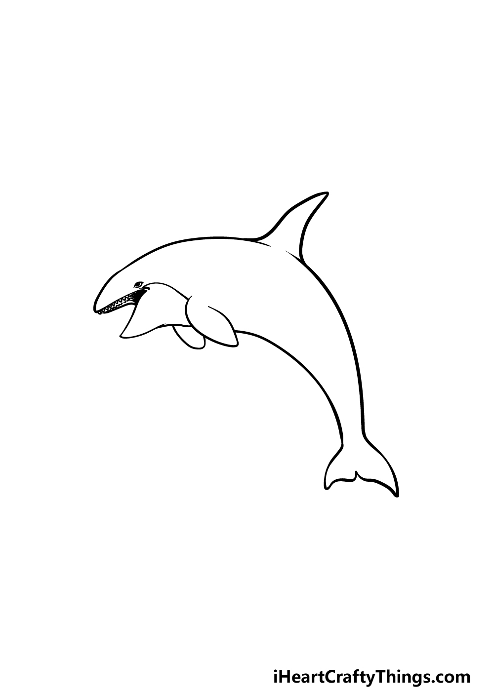 drawing an orca step 4