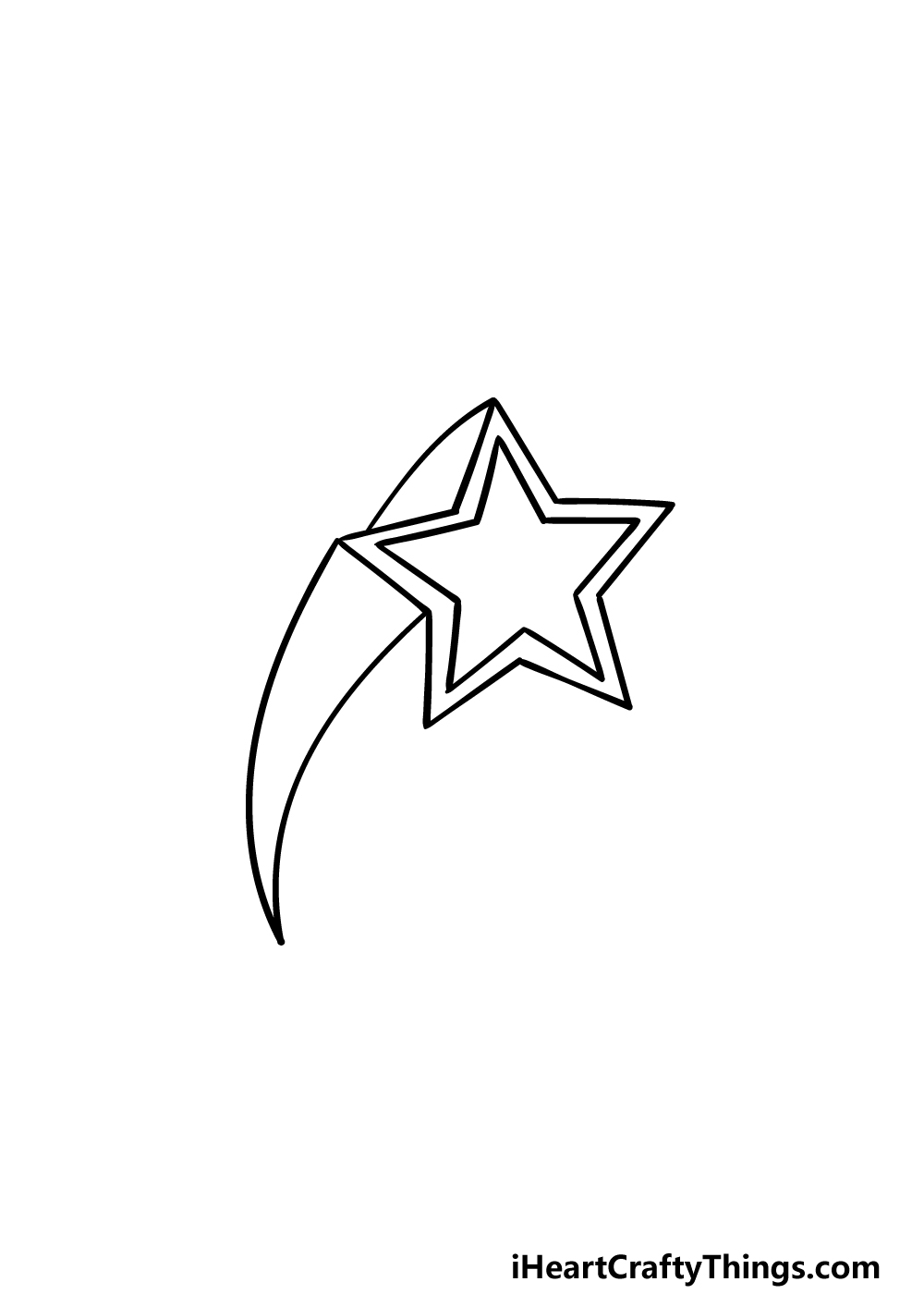 drawing a Shooting Star step 4