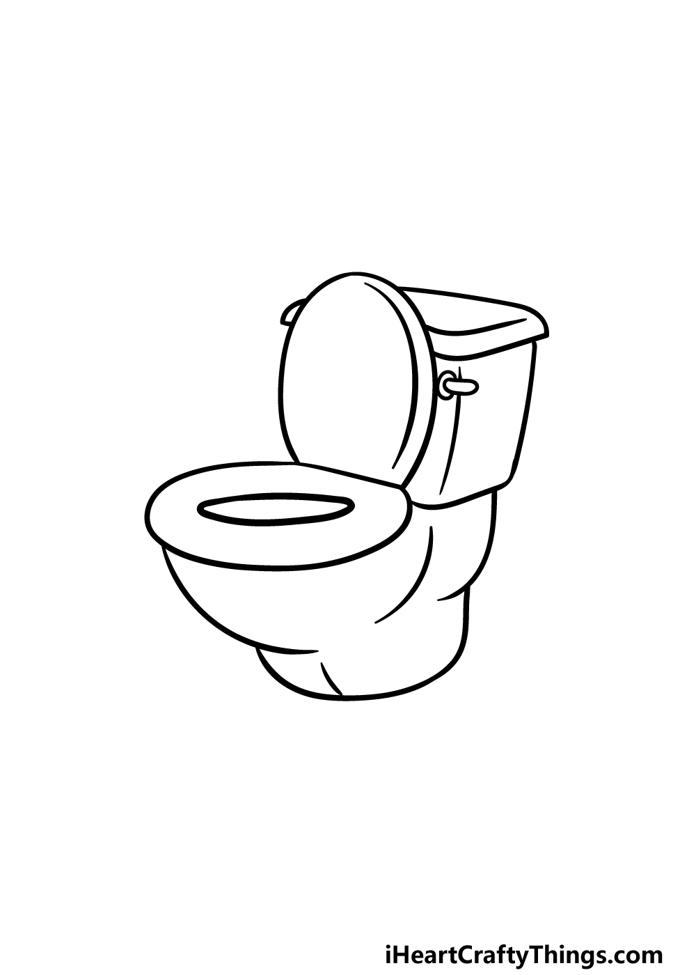 drawing a toilet step 3