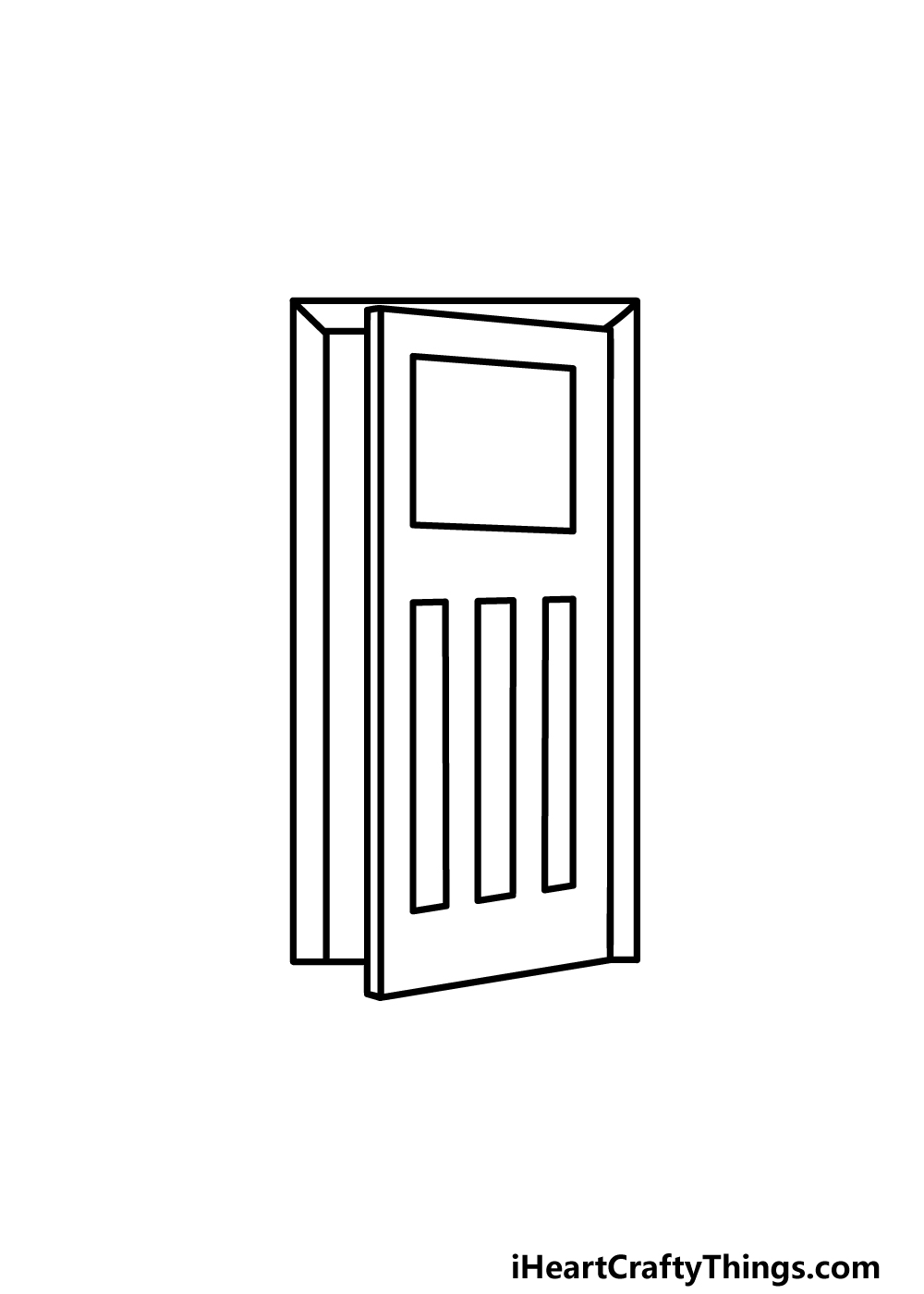 drawing a door step 4