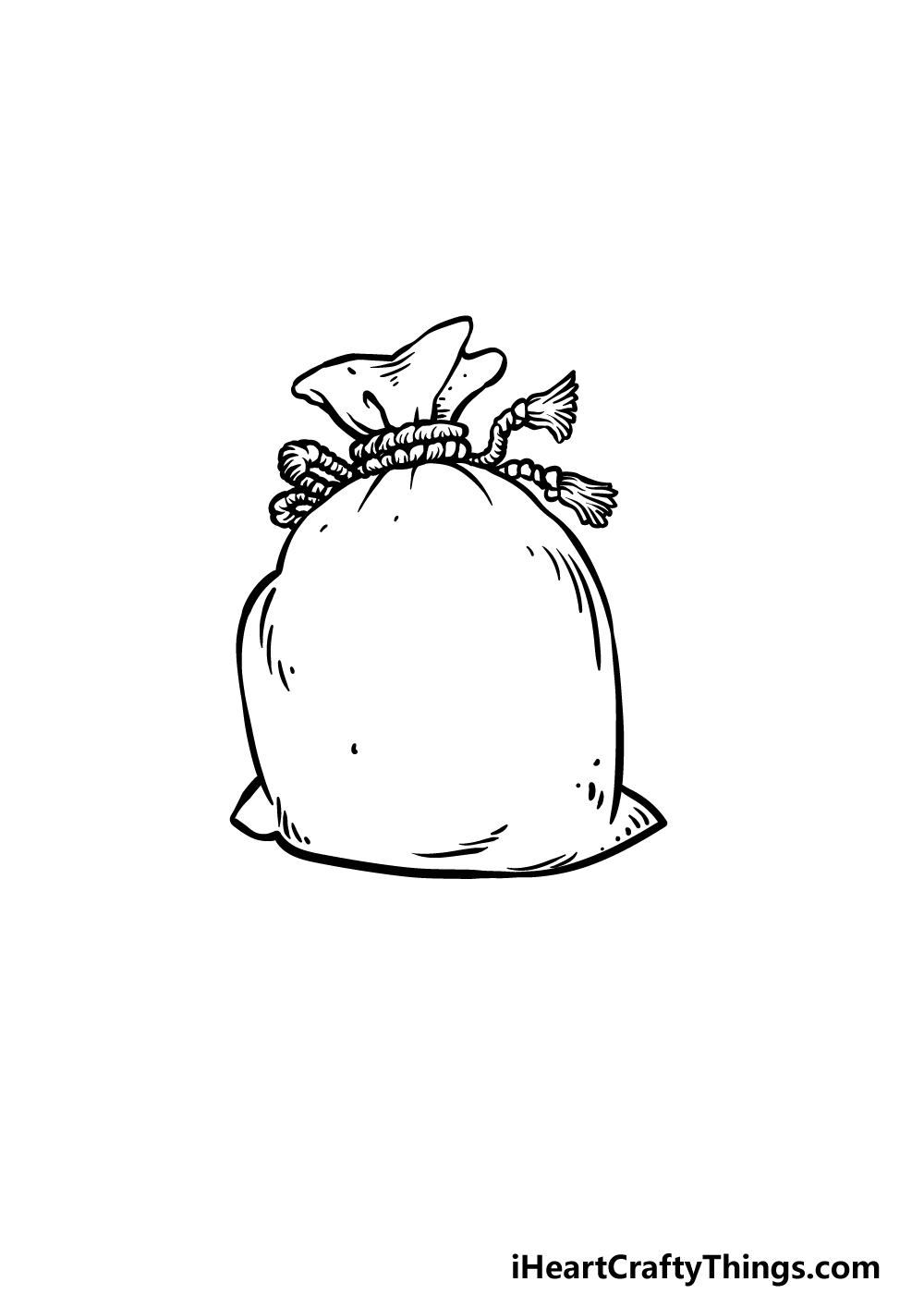 drawing a money bag step 4