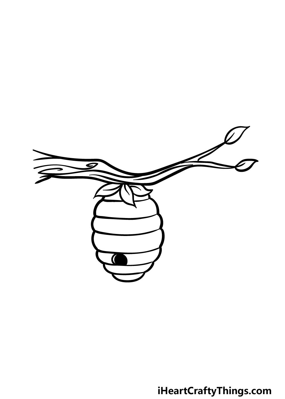 drawing beehive step 4