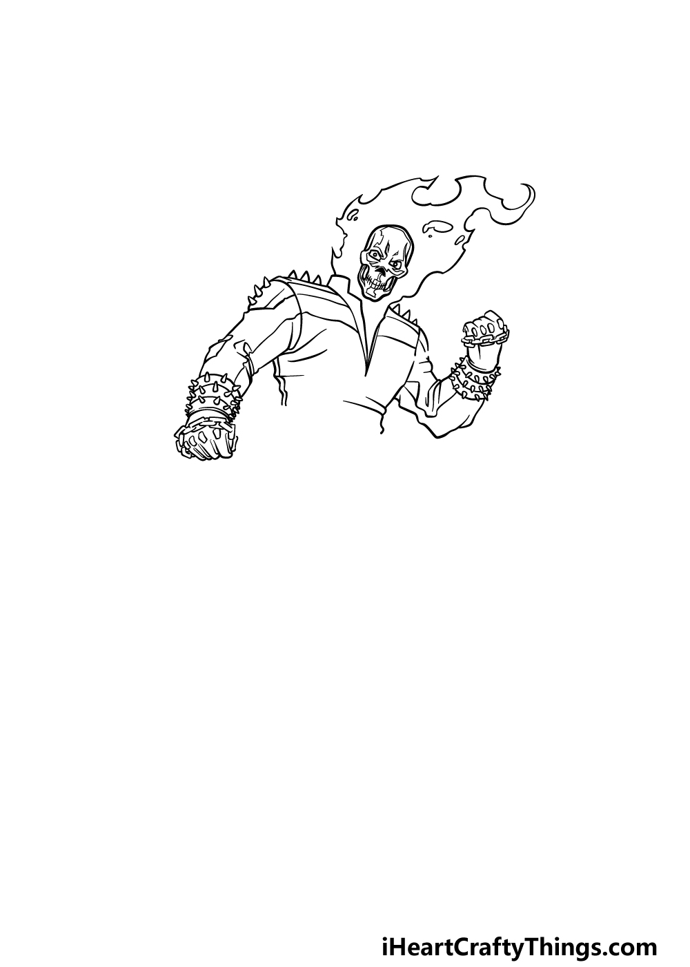 drawing Ghost Rider step 4