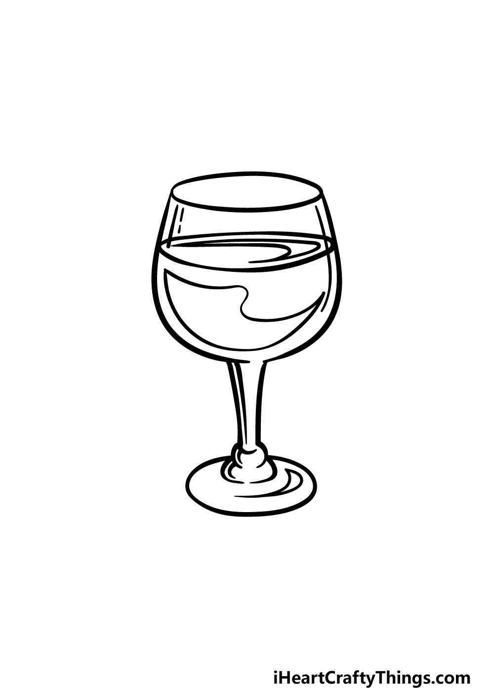 drawing a wine glass step 4