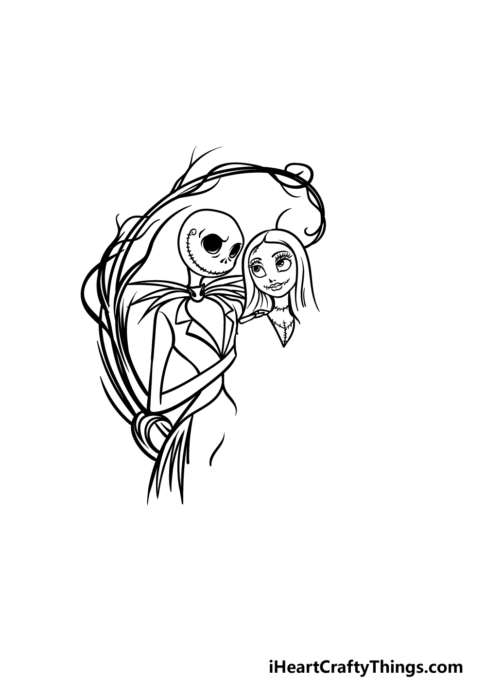 drawing Jack and Sally step 4