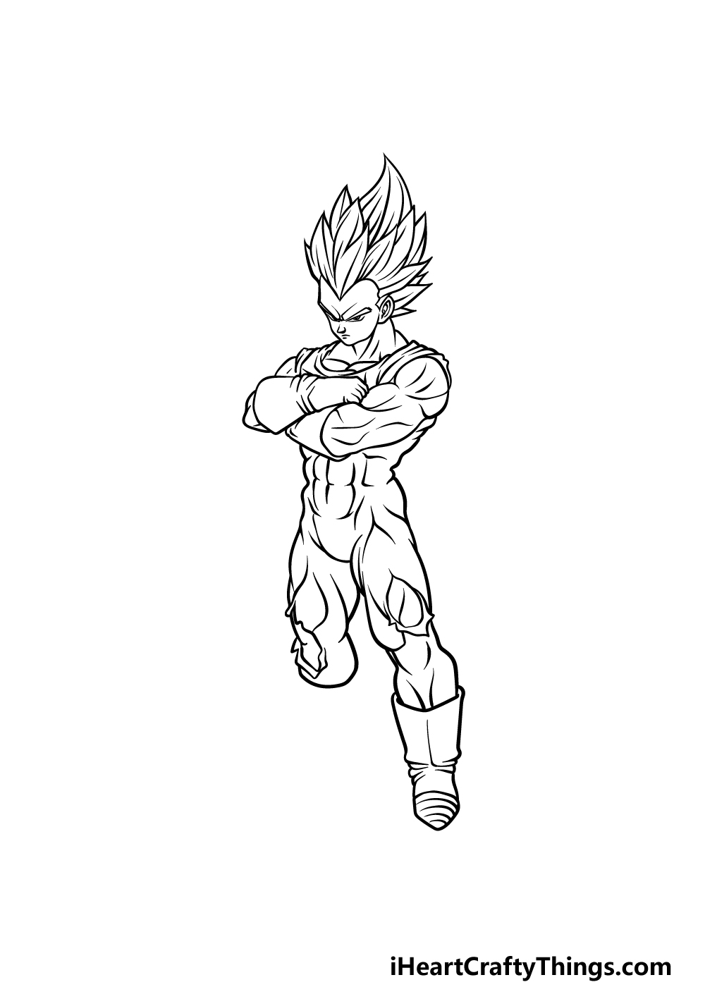 drawing Vegeta step 4