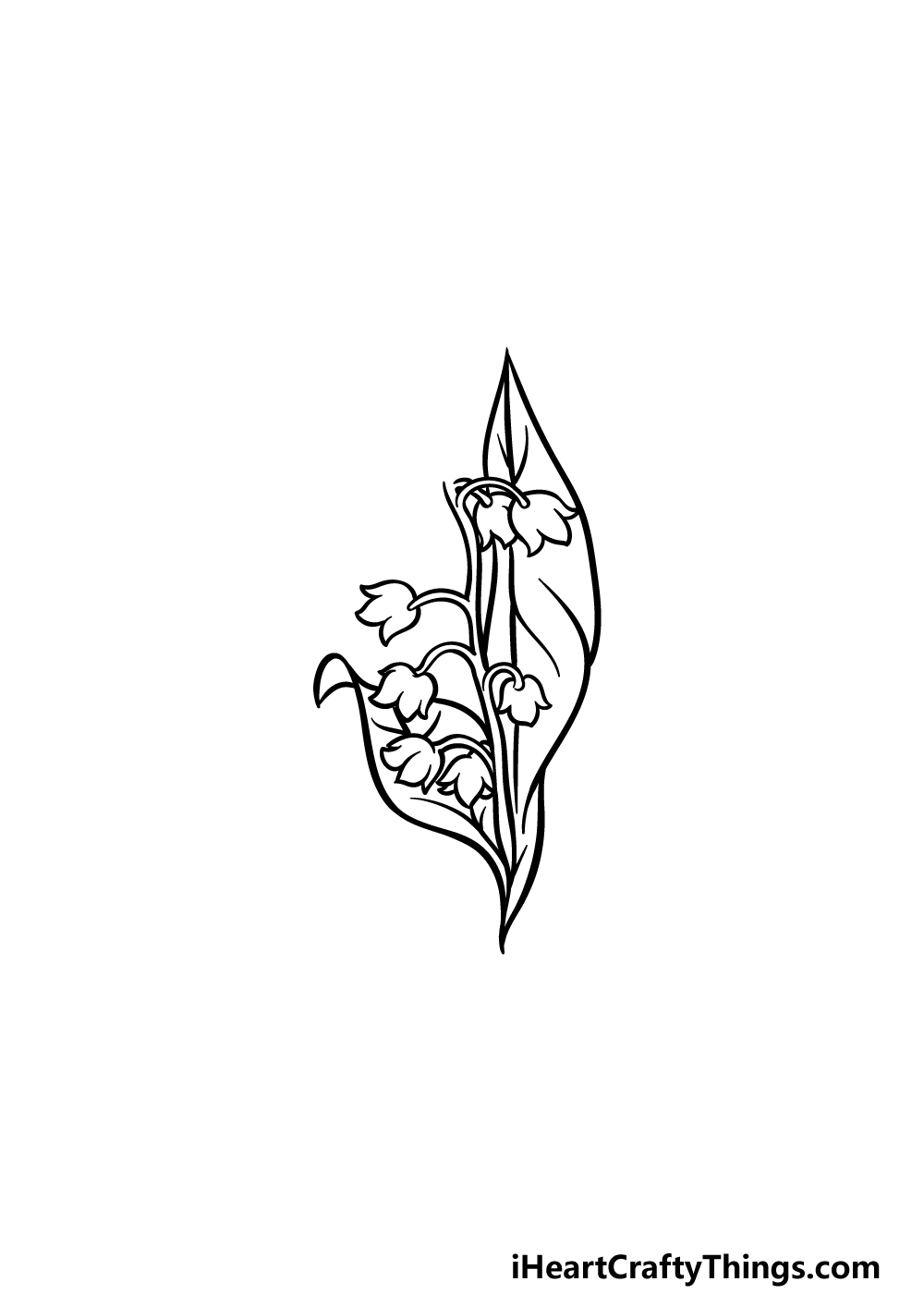 drawing lily of the valley step 4