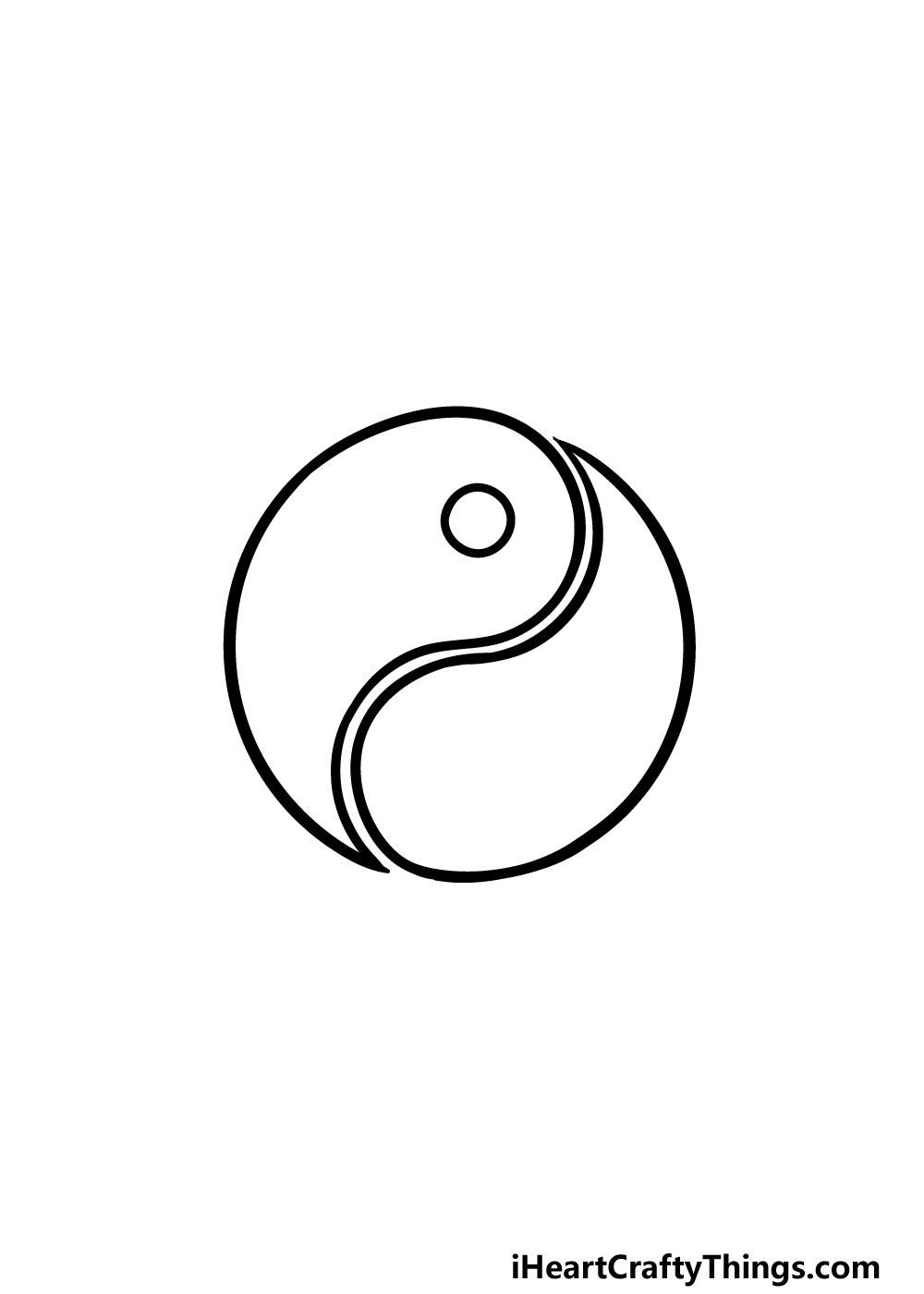 drawing Yin and Yang step 4