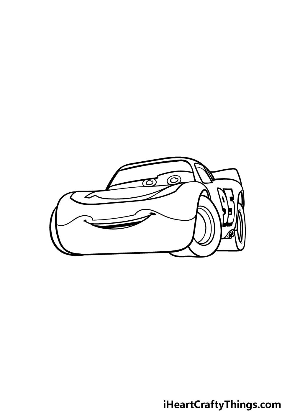 drawing Lightning McQueen step 4