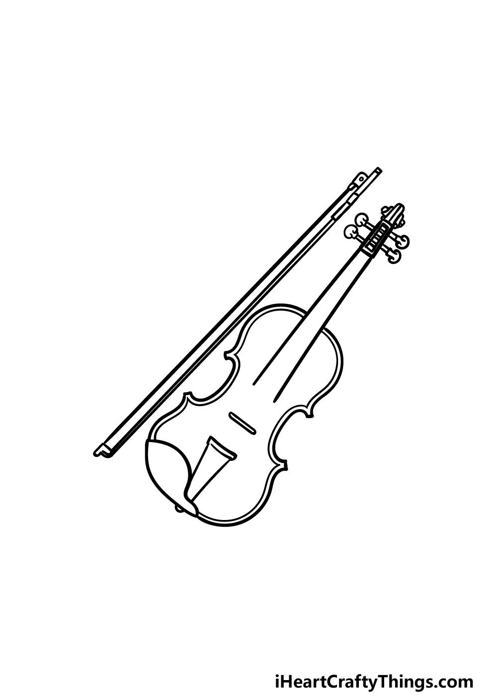 drawing a violin step 4