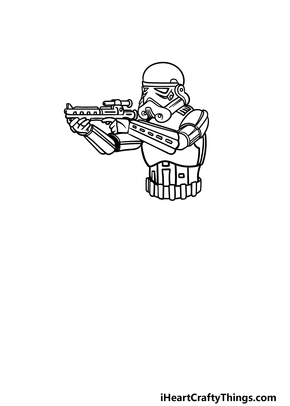 drawing a Stormtrooper step 4