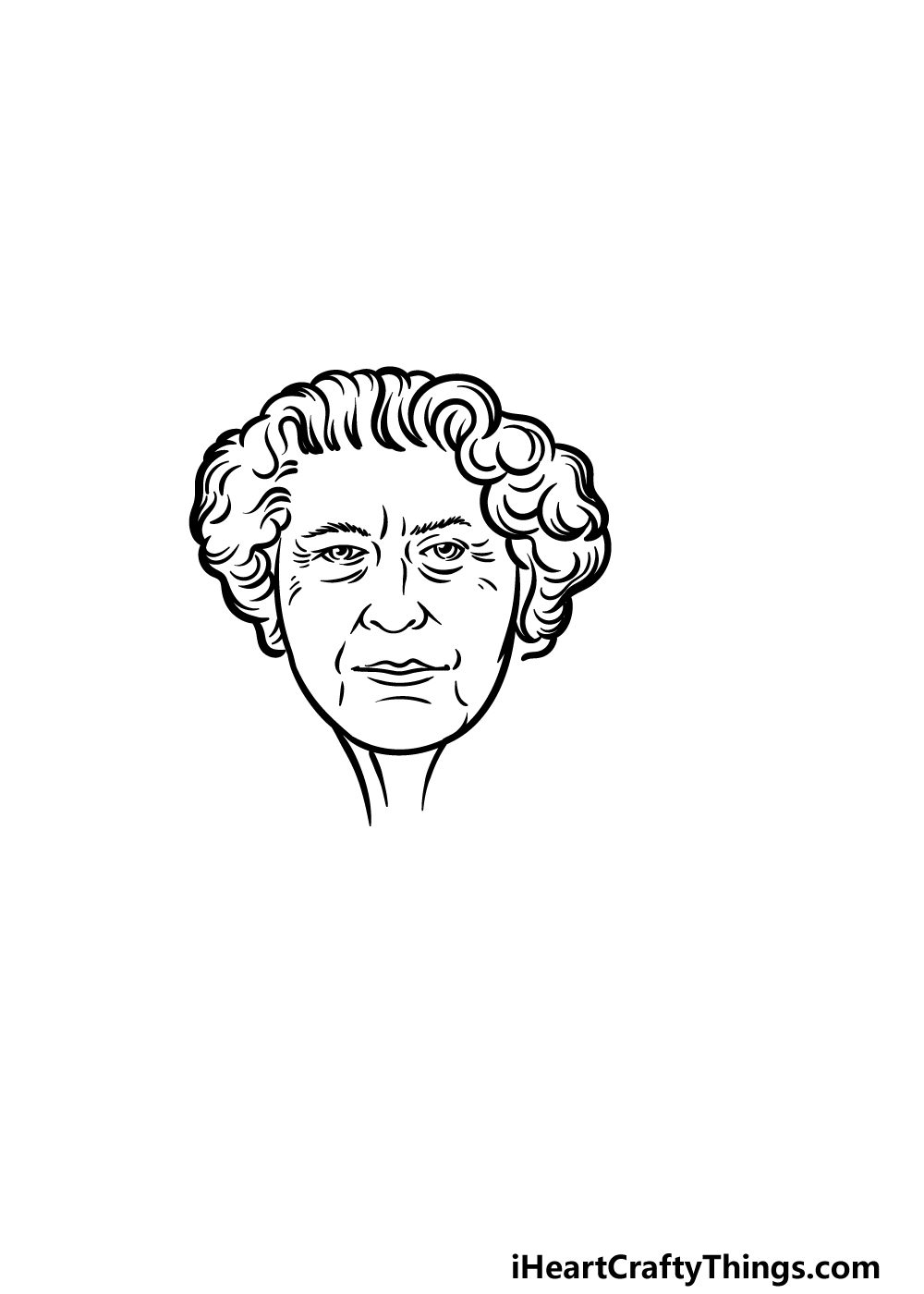 drawing the Queen step 4
