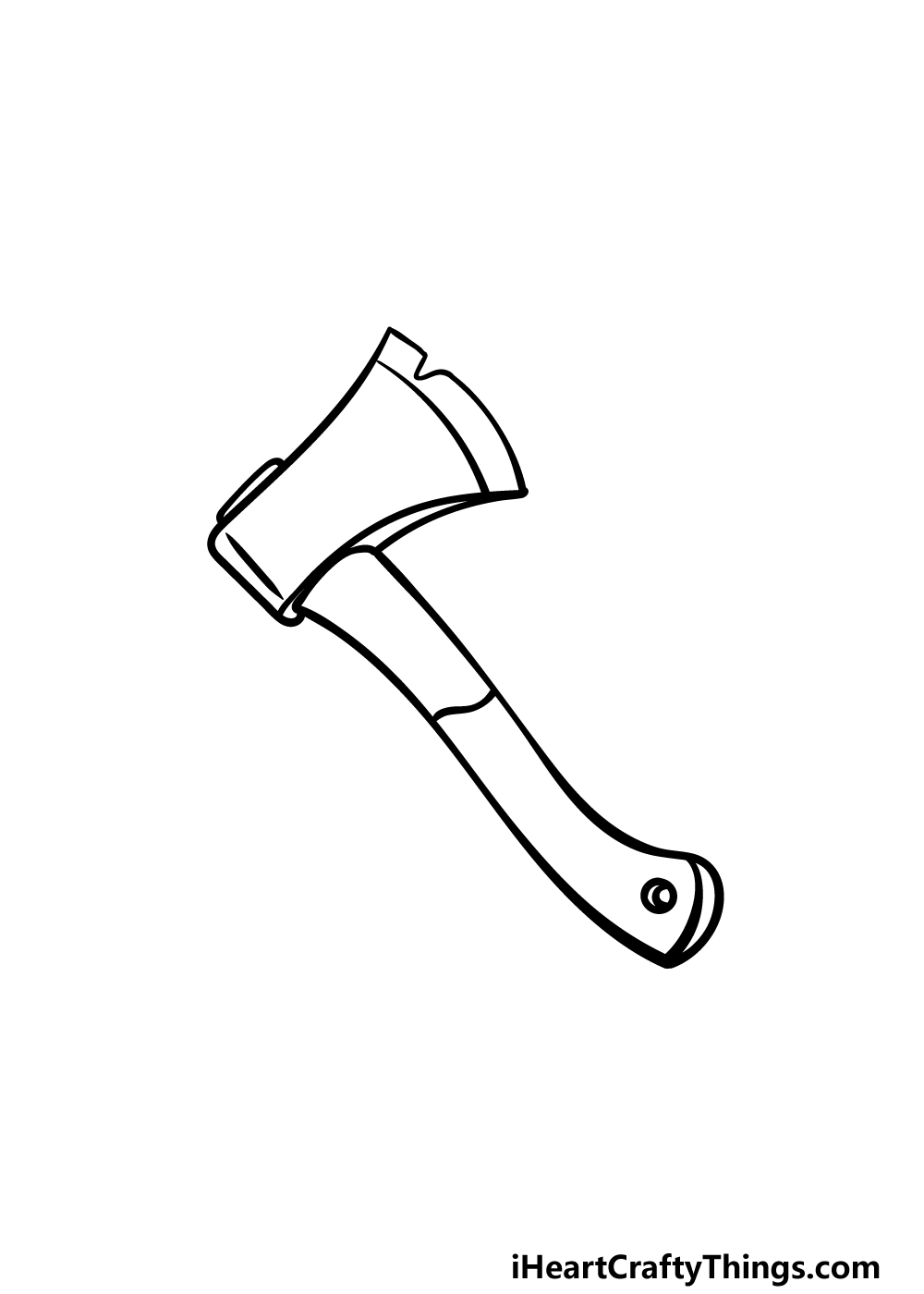 drawing an axe step 4