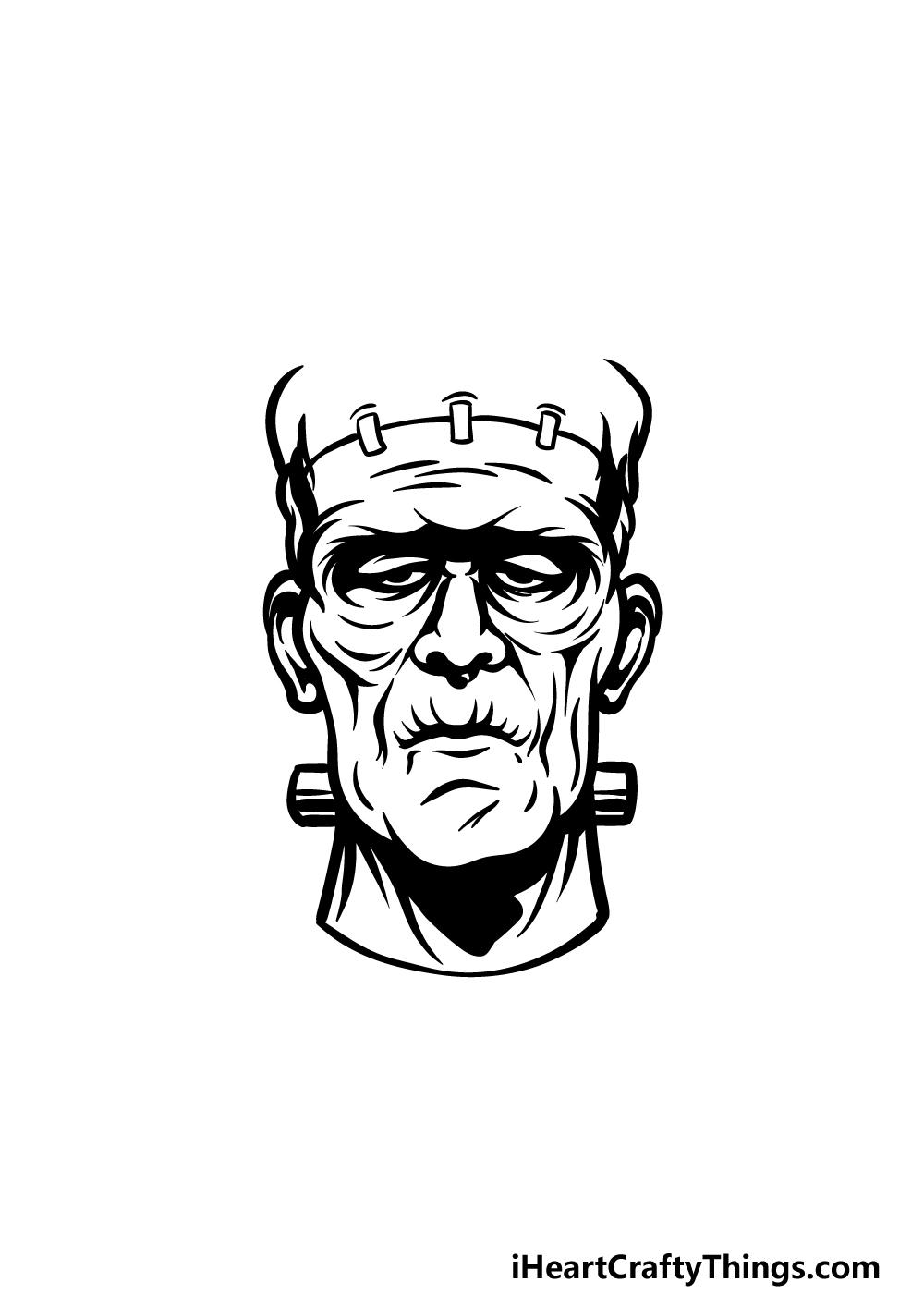 Drawing Frankenstein step 4
