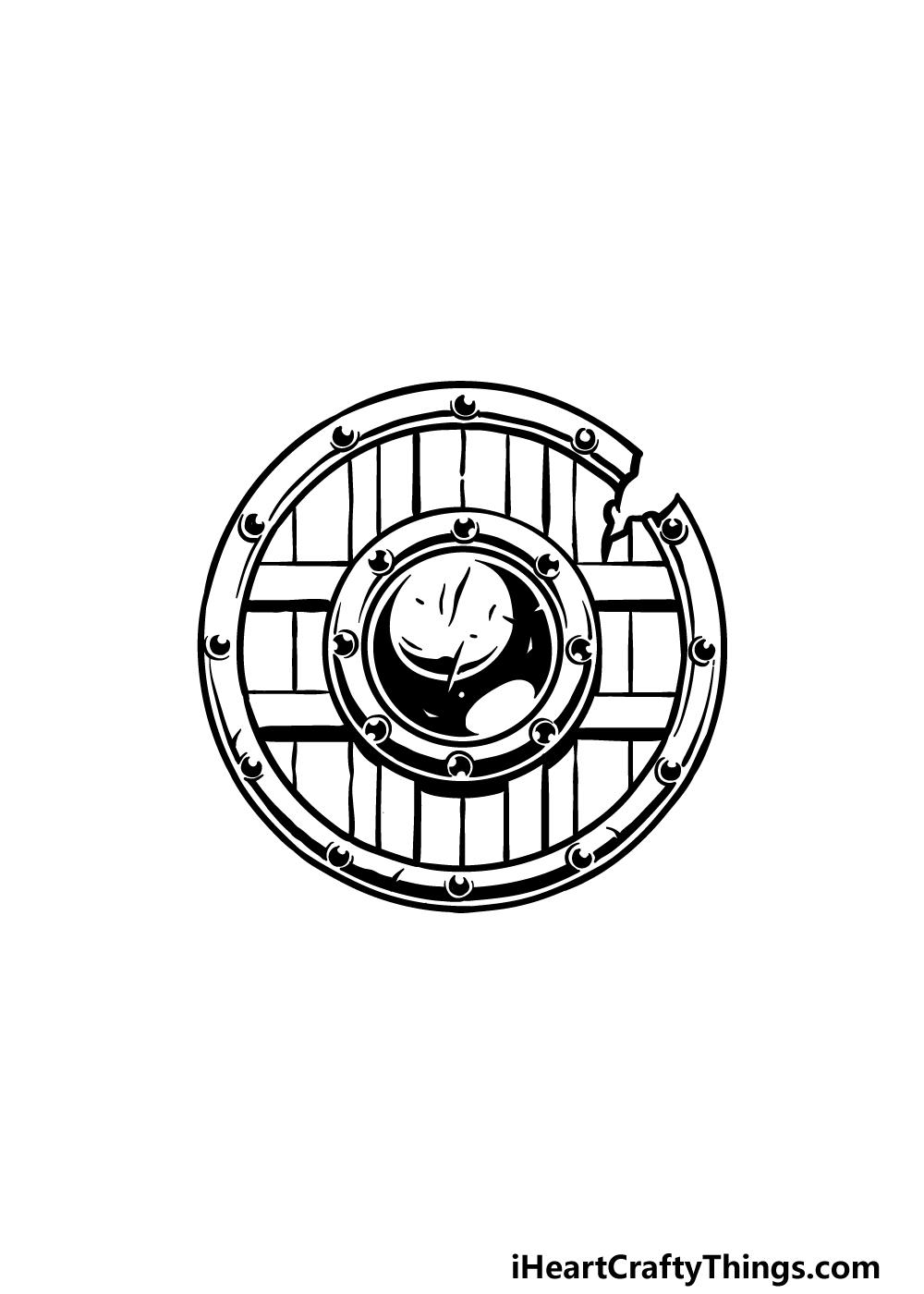 drawing a shield step 4