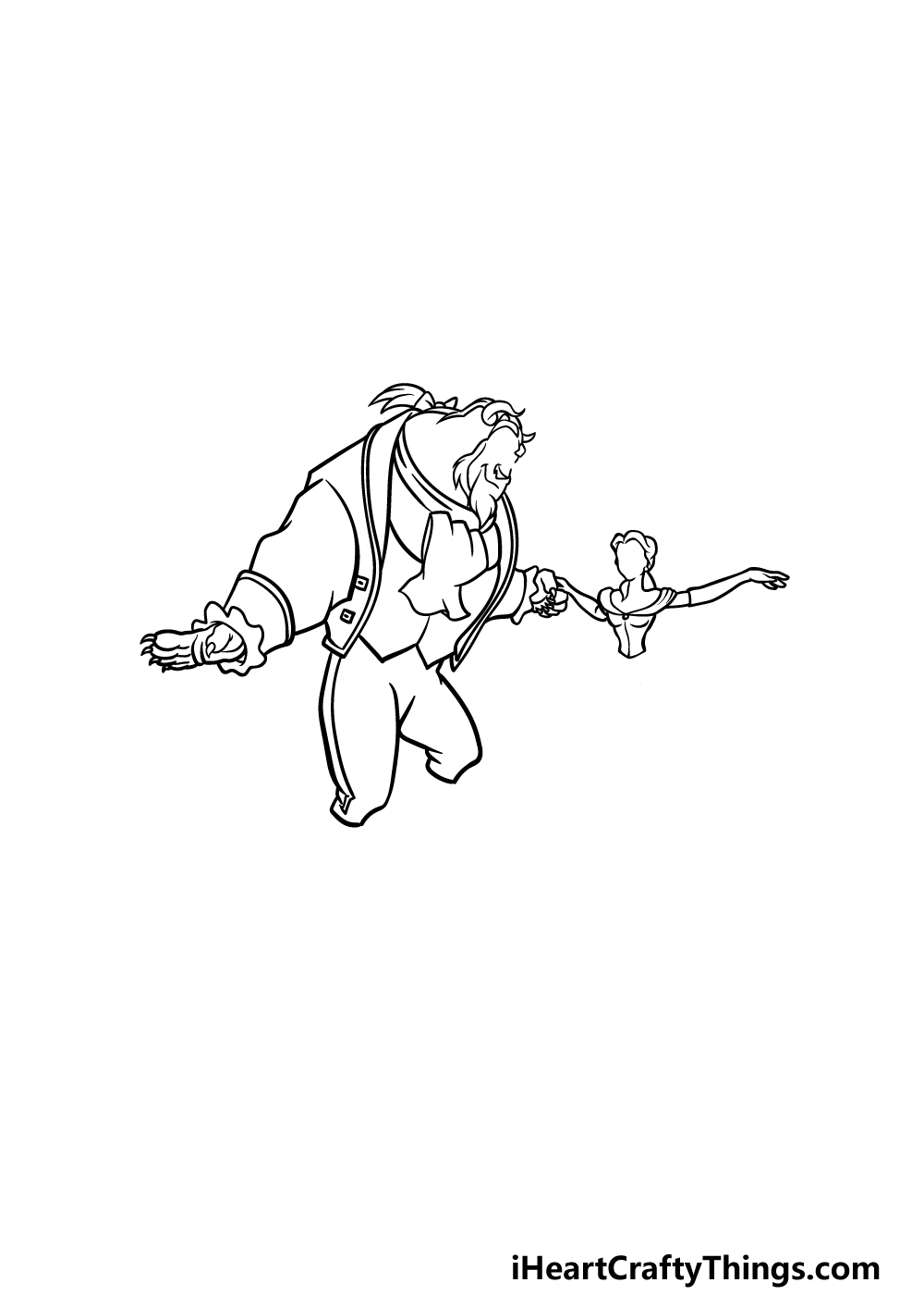 drawing Beauty and the Beast step 4
