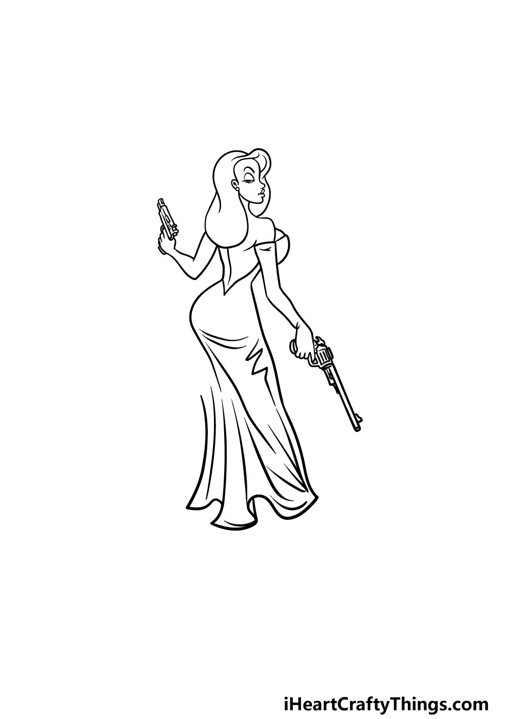 drawing Jessica Rabbit step 4