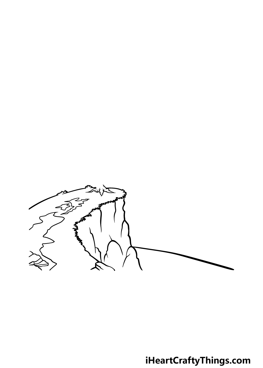 drawing a cliff step 4