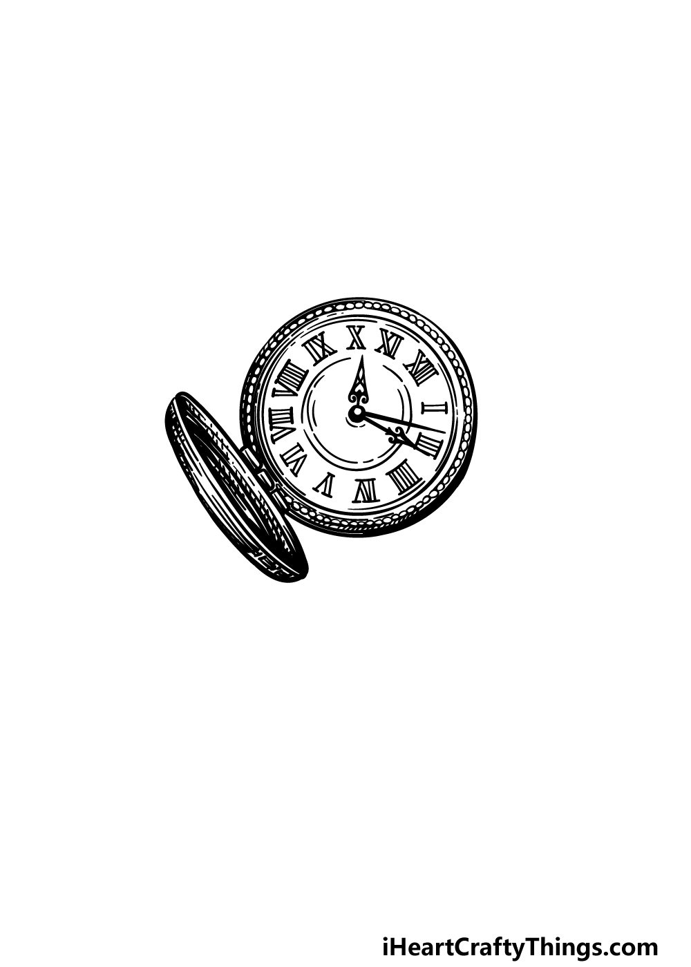 drawing a pocket watch step 4