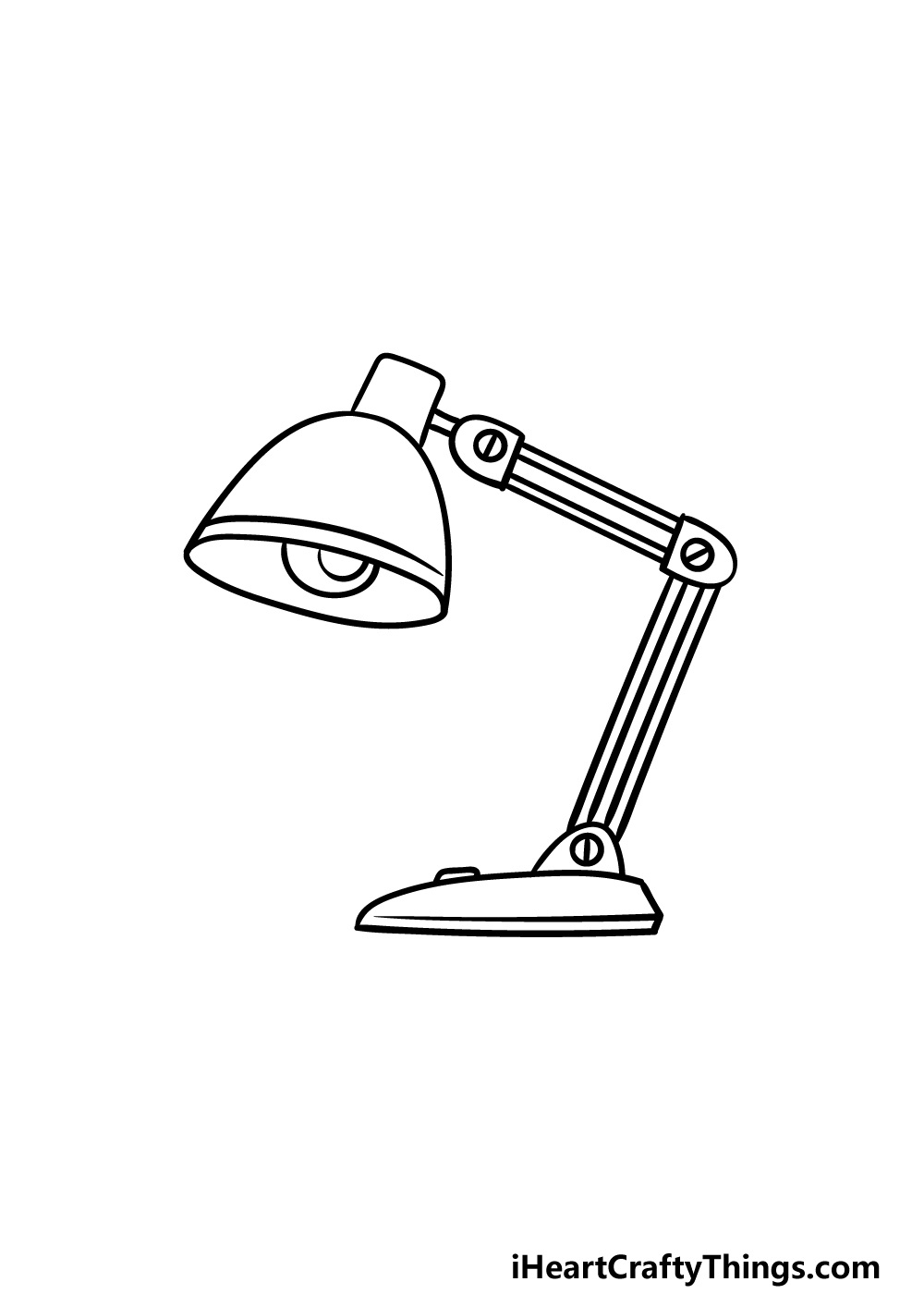 drawing a lamp step 4