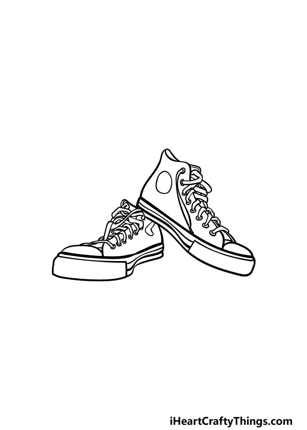 drawing converse step 4