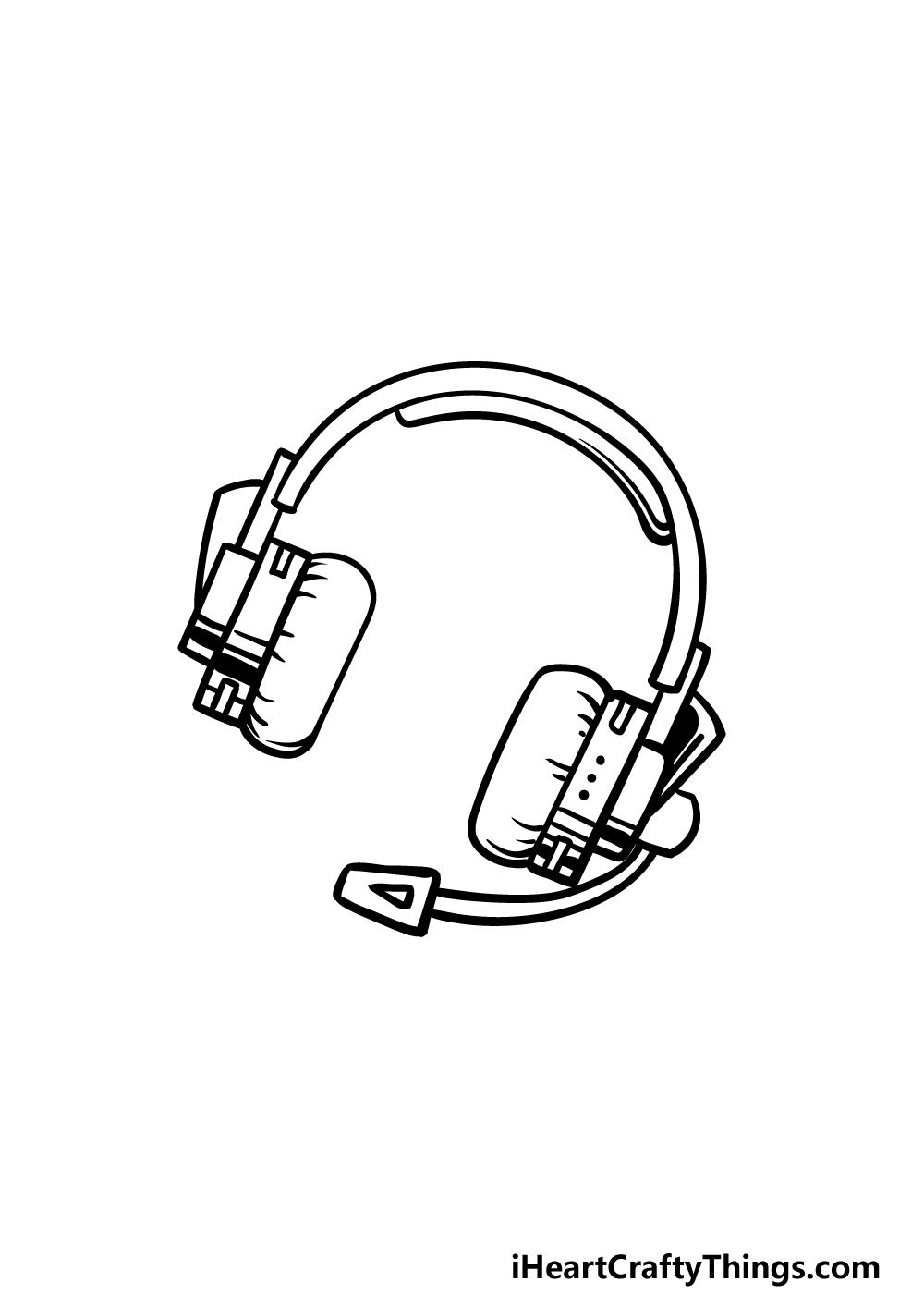 drawing headphones step 4
