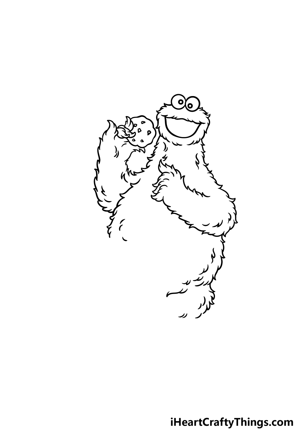 drawing a cookie monster step 4