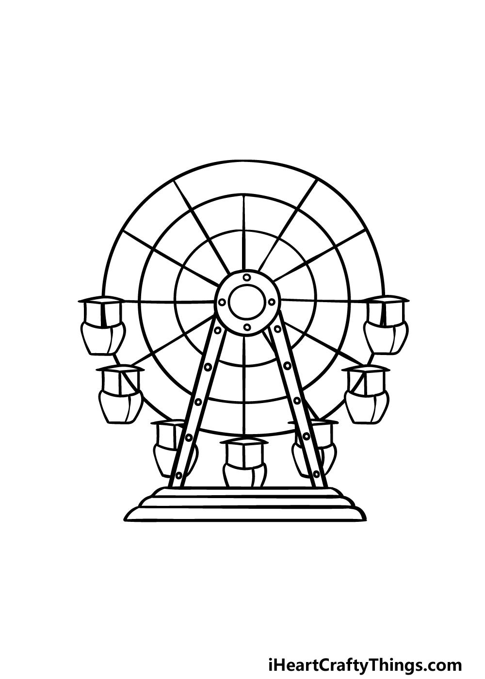 drawing Ferris Wheel step 4