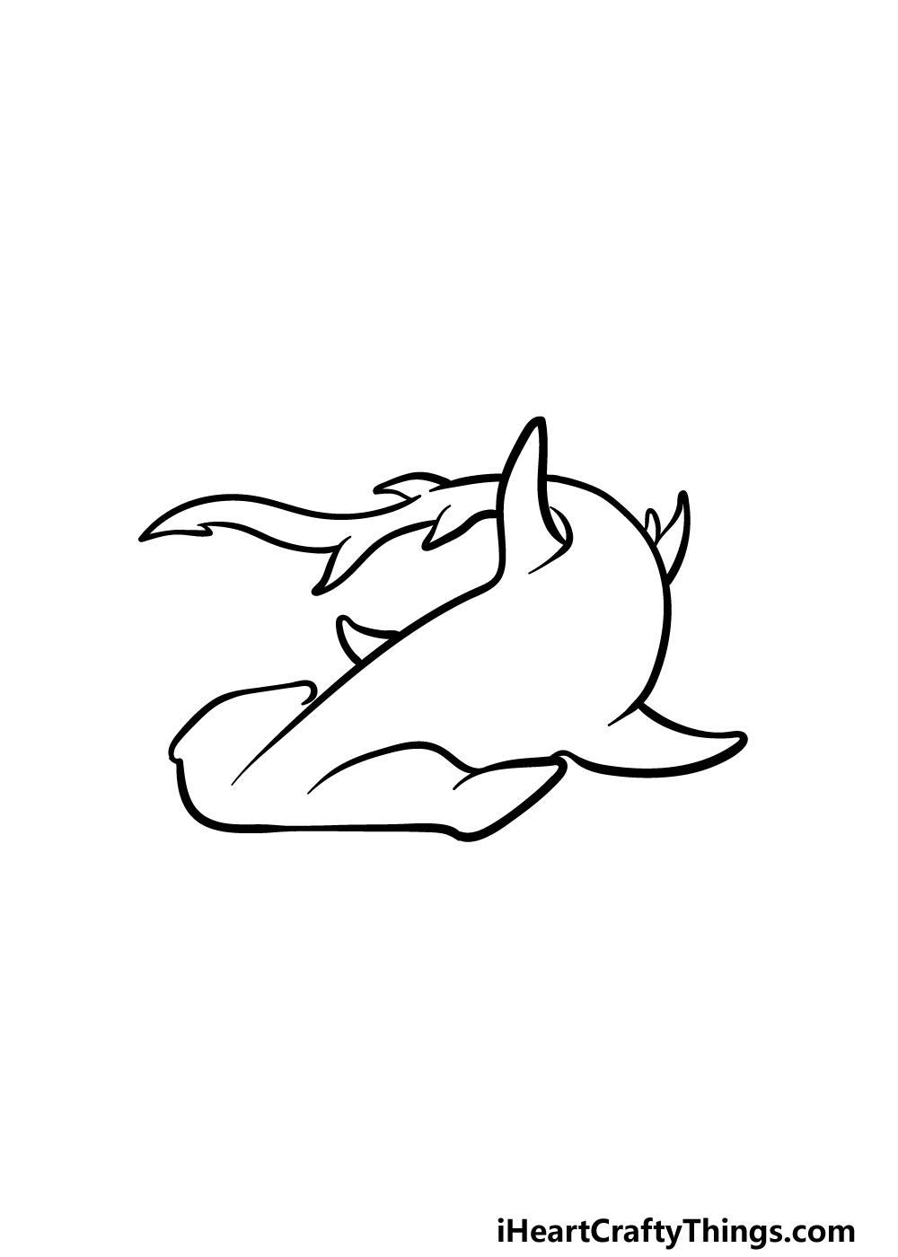 drawing hummerhead shark step 4