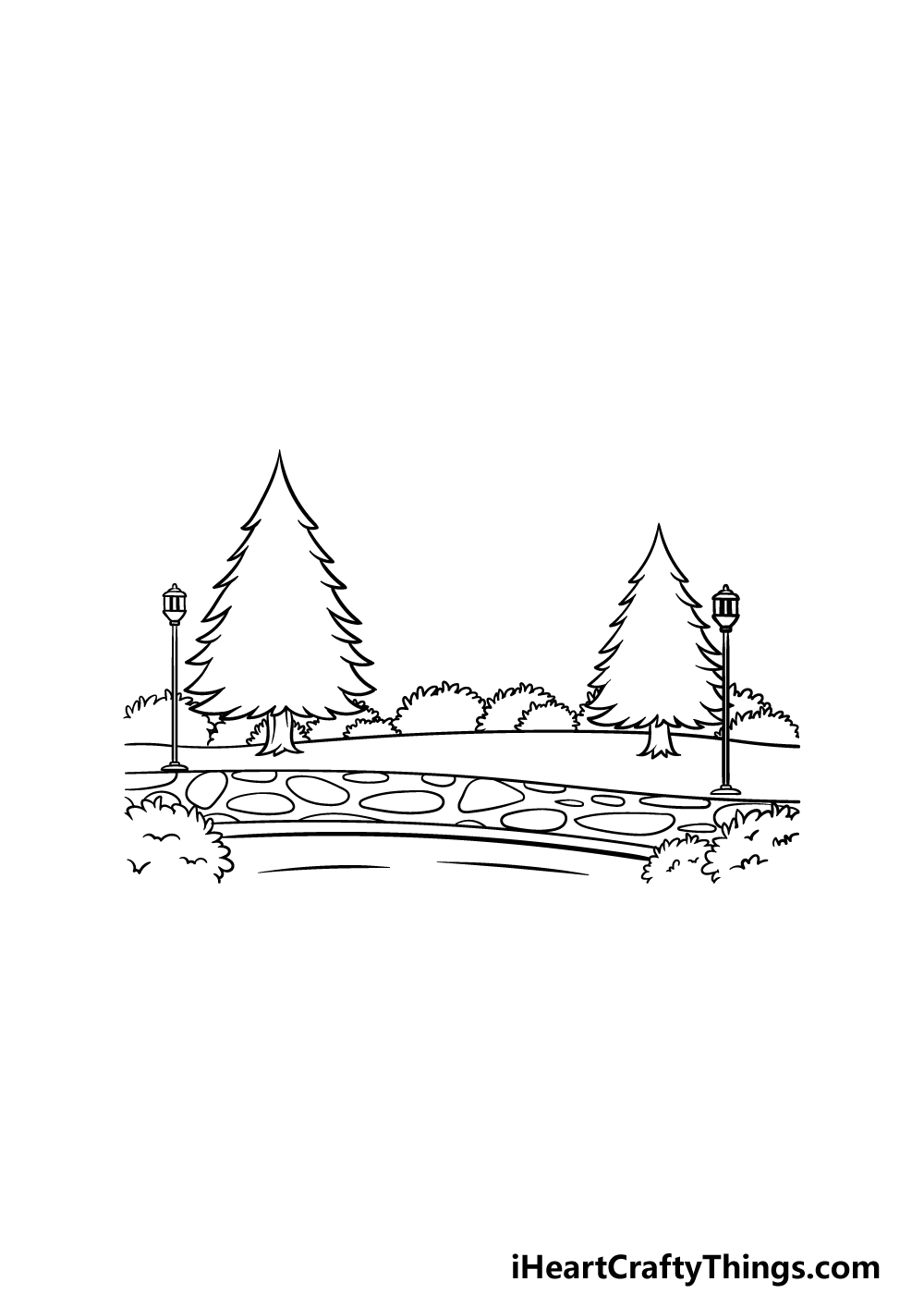 drawing a park step 4