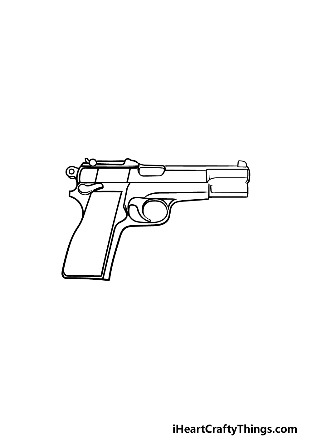 drawing a pistol step 4
