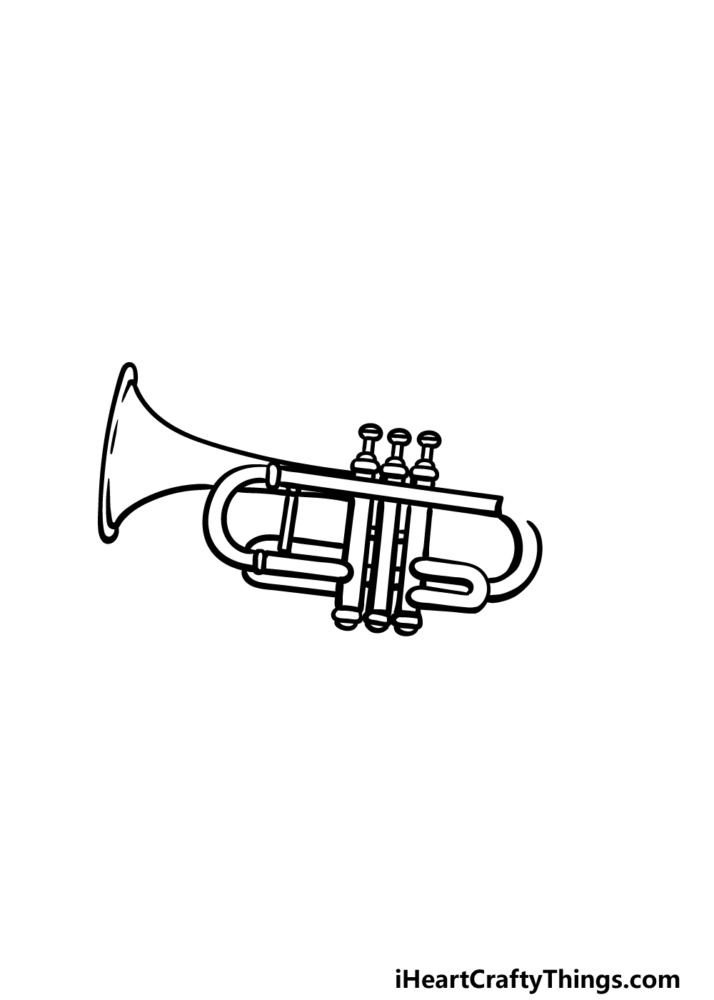 drawing a trumpet step 4