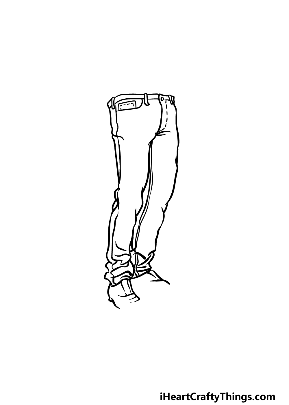drawing jeans step 4
