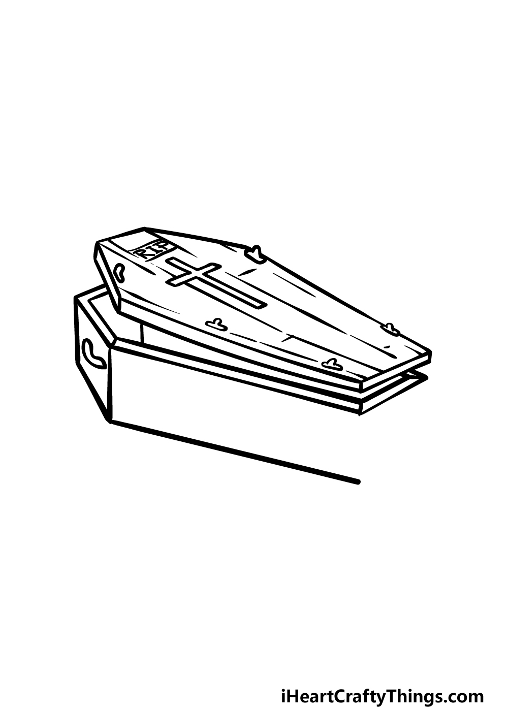 drawing a coffin step 4