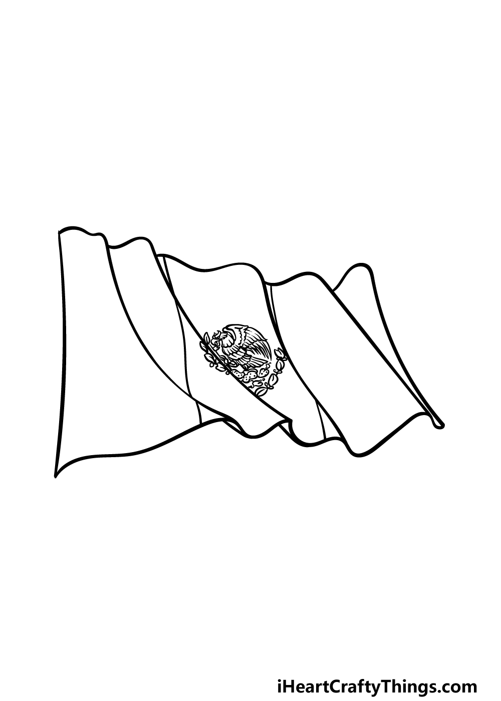 drawing Mexican flag step 5