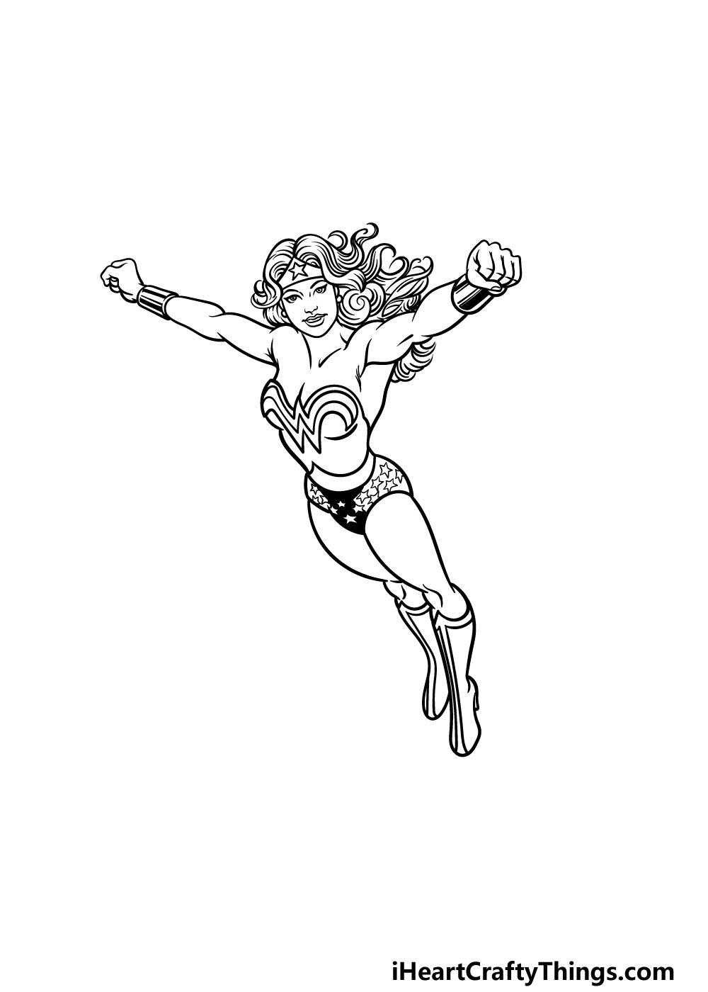 drawing Wonder Woman step 5