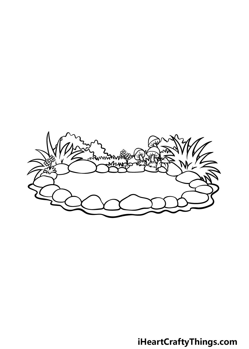 drawing a pond step 5
