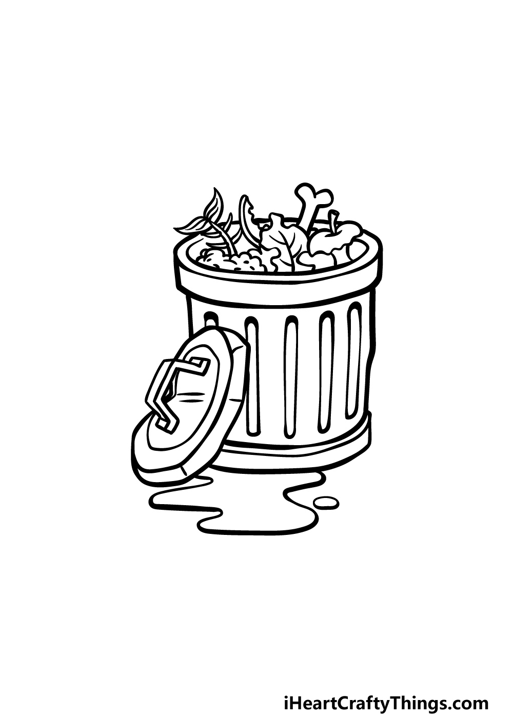 drawing a trash can step 5