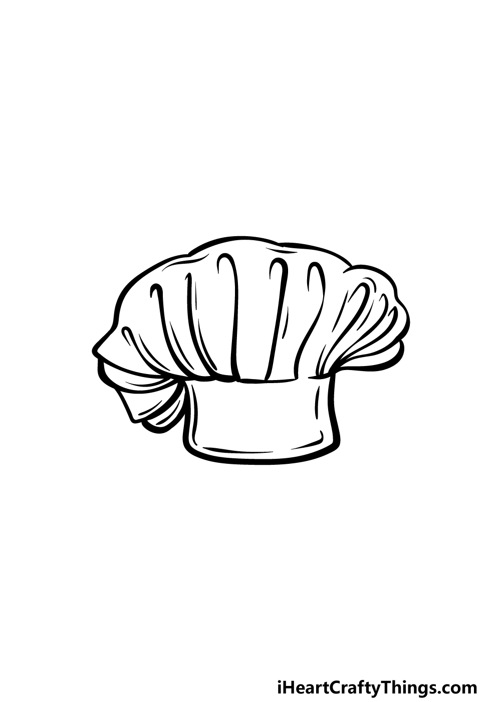 drawing chef's hat step 5