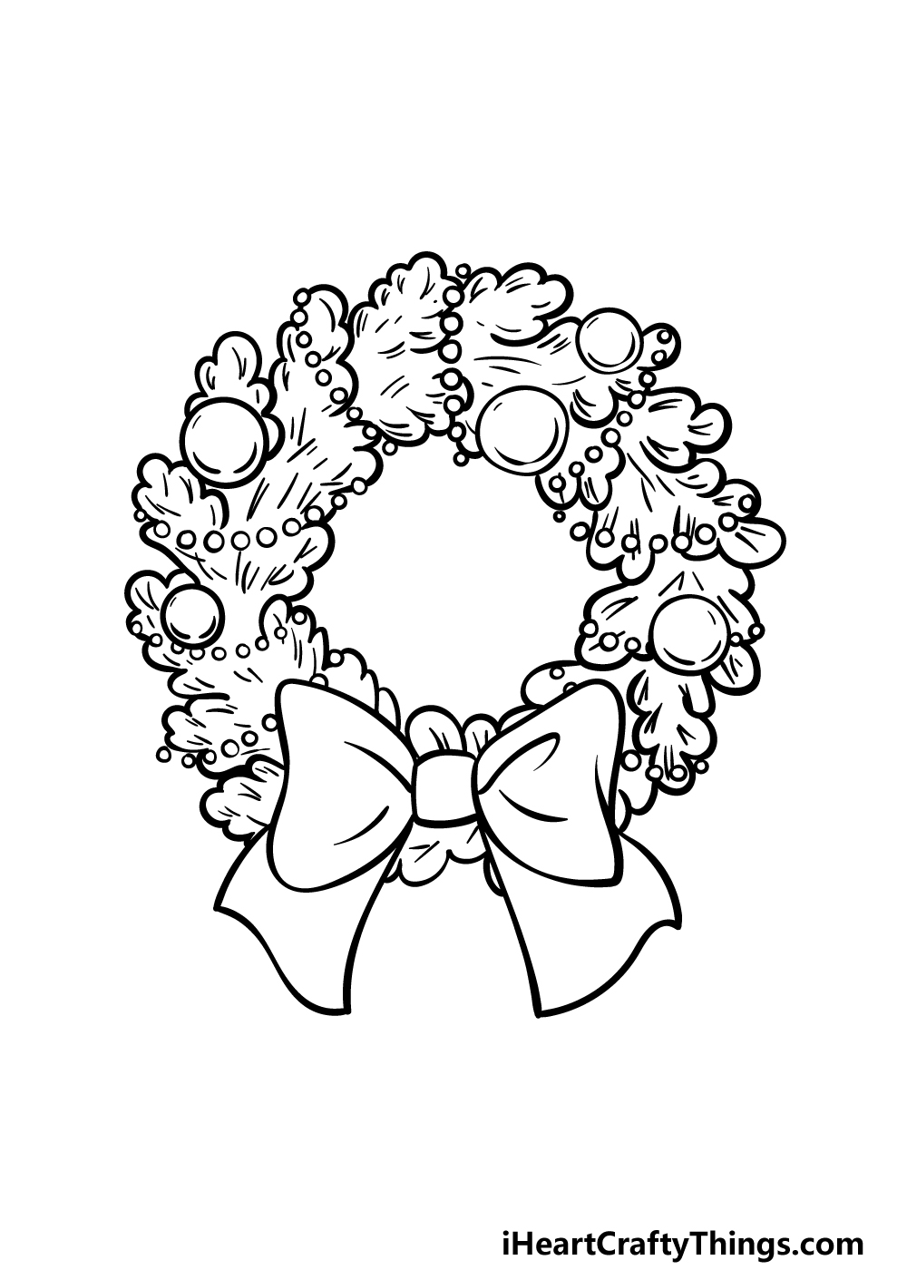drawing a wreath step 5