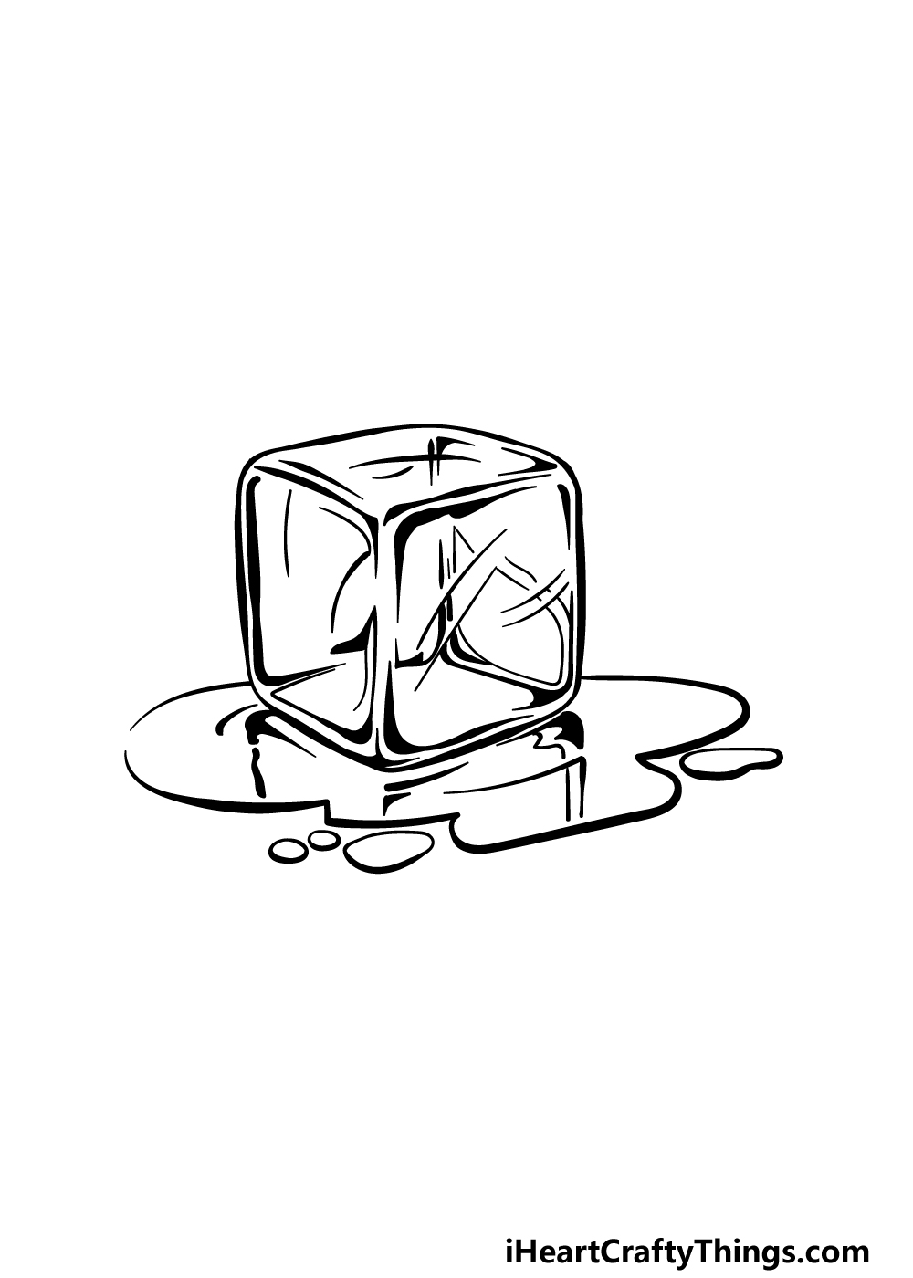 drawing an ice cube step 5